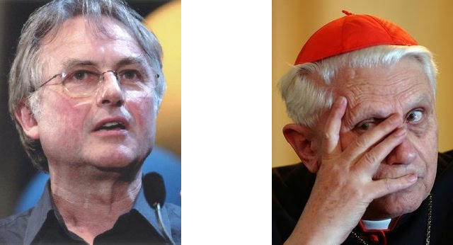 Richard Dawkins and Jozef Ratzinger a.k.a. Benedict XVI